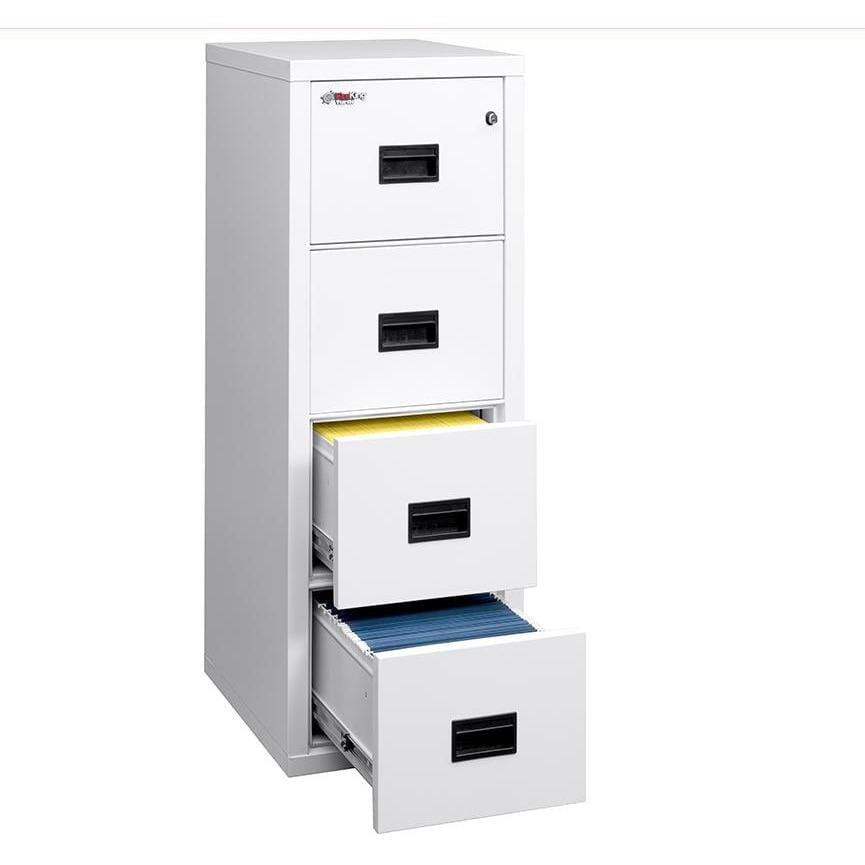 "Fire King 4 Drawer 22"" Depth Small Office/Home Office Vertical Fireproof File Cabinet 4R1822-C"