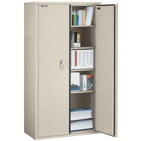 "Fire King 72"" Fire Rated Storage Cabinet with Adjustable Shelves CF7236-D"
