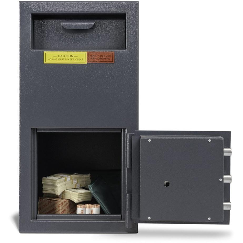 "Amsec 17.25"" x 13.75"" x 11"" B-Rate Front Loading Depository Business Safe DSF2714"