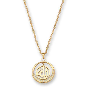 Halskette ALLAH in Gold