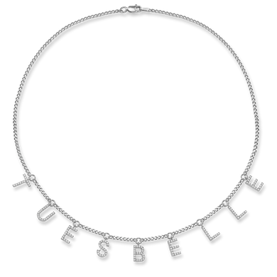 Kette LETTERs in Silber