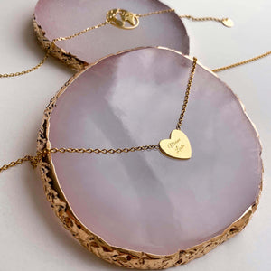 Kette LOVE in Gold (inkl. Gravur)