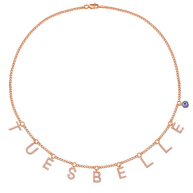 Kette LETTERs in Rosé Gold