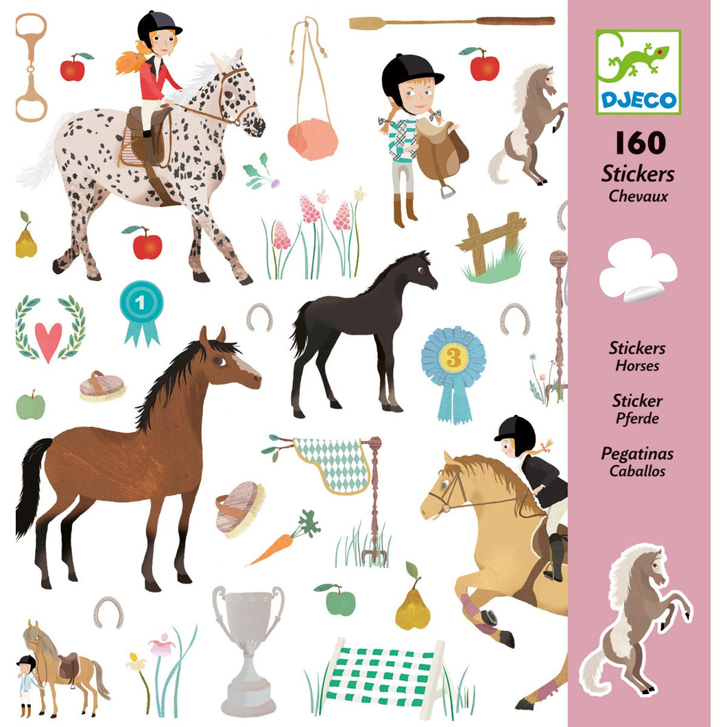 160 stickers Chevaux