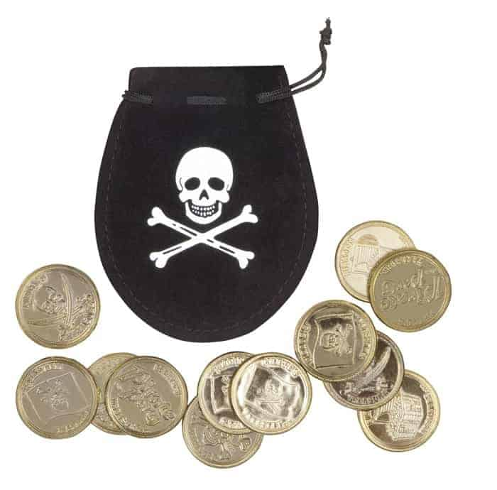 BOURSE PIRATE + PIECES D'OR