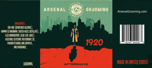 Arsenal Grooming - 1920 - Traditional Luxury Aftershave - 100ml
