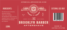 Load image into Gallery viewer, Arsenal-Grooming-Brooklyn-Barber-Traditional-Luxury-Aftershave-100ml