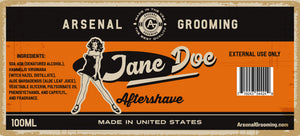 Arsenal Grooming - Jane Doe - Traditional Luxury Aftershave - 100ml