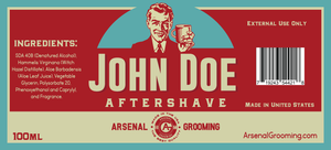 Arsenal Grooming John Doe - Traditional Luxury Aftershave - 100ml