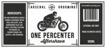 Load image into Gallery viewer, Arsenal Grooming - One Percenter - Traditional Luxury Aftershave - 100ml