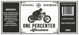 Arsenal Grooming - One Percenter - Traditional Luxury Aftershave - 100ml