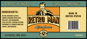 Arsenal Grooming - Retro Man - Traditional Luxury Aftershave - 100ml