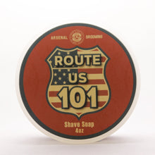 Load image into Gallery viewer, Arsenal Grooming wet shaving shave soap barbershop luxury shave double edge razor barber route 101 tallow based shaving soap