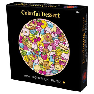 Colorful Dessert Wooden 1000 Piece Jigsaw Puzzle Toy For Adults and Kids