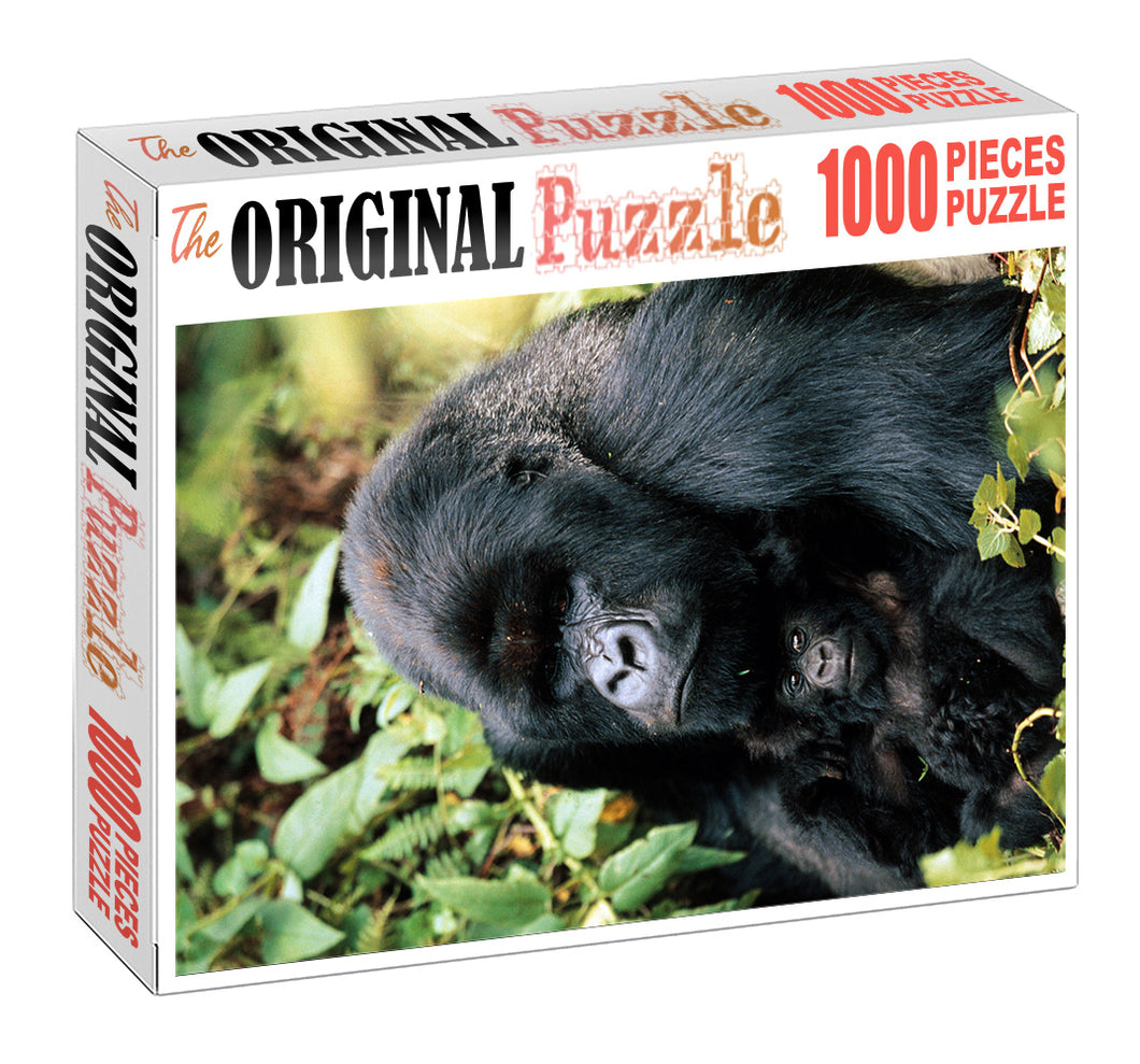 Mother Gorilla is Wooden 1000 Piece Jigsaw Puzzle Toy For Adults and Kids