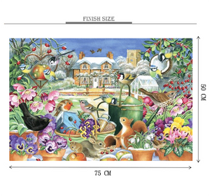 Chirping Birds Wooden 1000 Piece Jigsaw Puzzle Toy For Adults and Kids