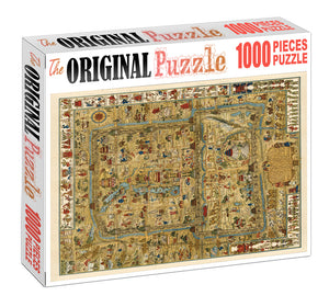 Timeline Map is Wooden 1000 Piece Jigsaw Puzzle Toy For Adults and Kids