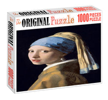 Farmer Girl Potrait Wooden 1000 Piece Jigsaw Puzzle Toy For Adults and Kids