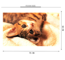 Cat Laying on Bed is Wooden 1000 Piece Jigsaw Puzzle Toy For Adults and Kids