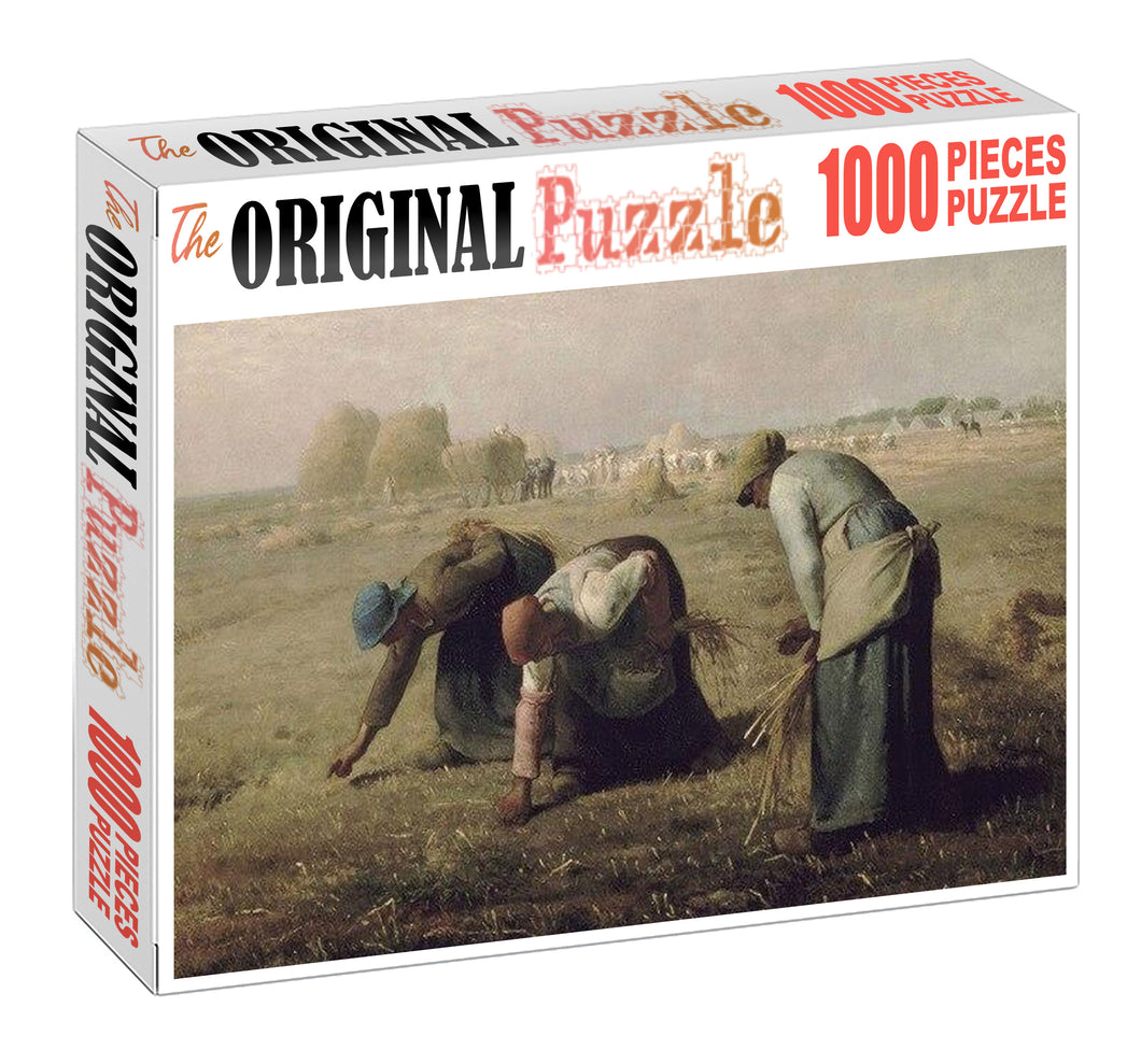 Women working on Field Wooden 1000 Piece Jigsaw Puzzle Toy For Adults and Kids