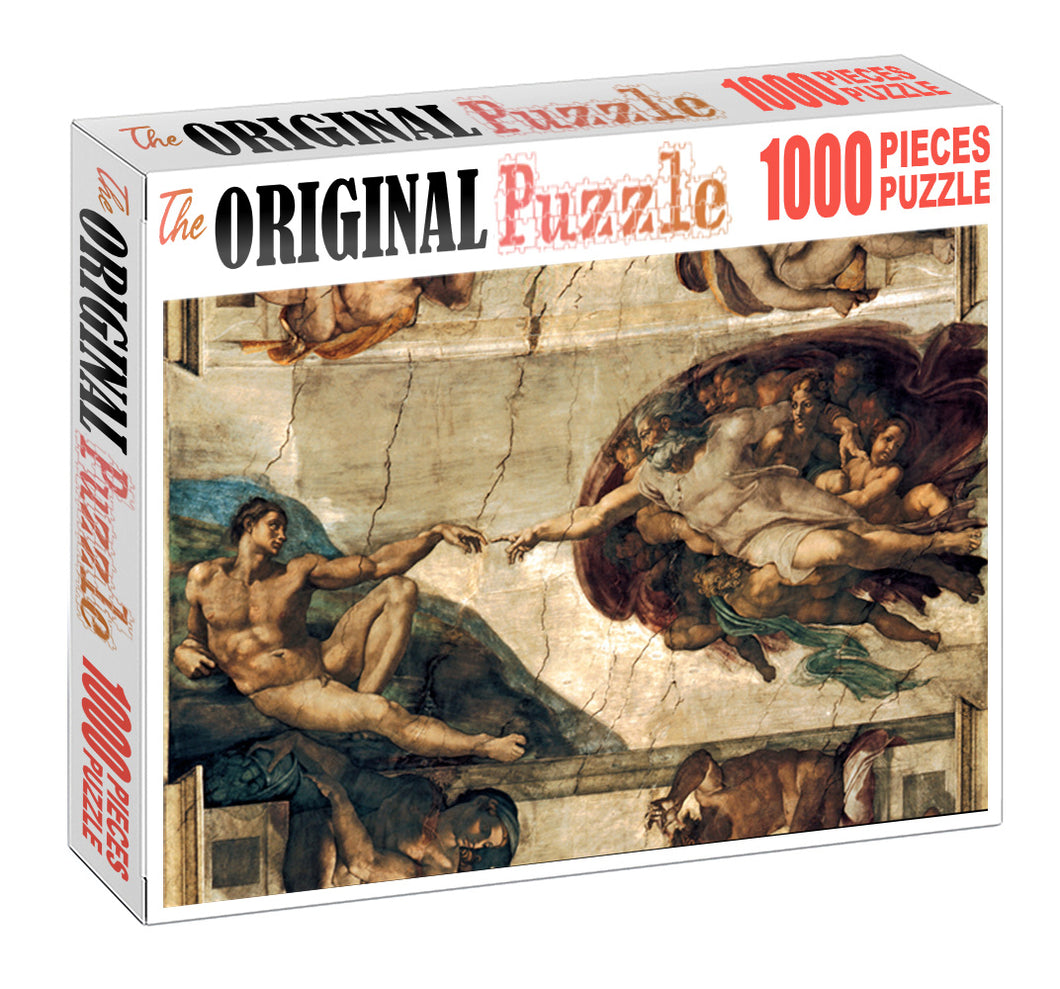 Creation of Adam is Wooden 1000 Piece Jigsaw Puzzle Toy For Adults and Kids