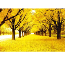 Yellow Path of Winterfall Wooden 1000 Piece Jigsaw Puzzle Toy For Adults and Kids