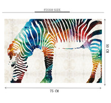 Color Gradiant Zebra is Wooden 1000 Piece Jigsaw Puzzle Toy For Adults and Kids