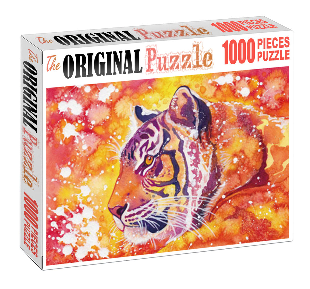 Floracent Tiger is Wooden 1000 Piece Jigsaw Puzzle Toy For Adults and Kids