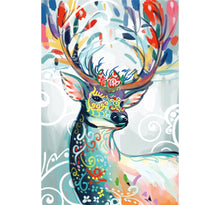 Abstract Art of Reindeer Wooden 1000 Piece Jigsaw Puzzle Toy For Adults and Kids