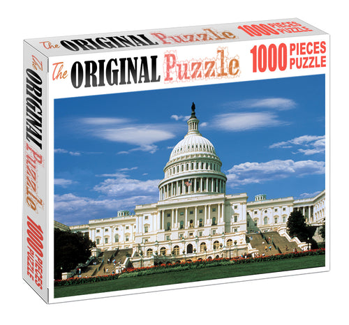 White House is Wooden 1000 Piece Jigsaw Puzzle Toy For Adults and Kids