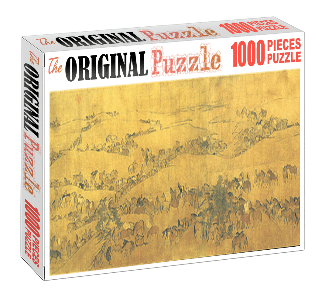 Travelling Horses is Wooden 1000 Piece Jigsaw Puzzle Toy For Adults and Kids