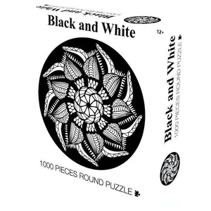 Black & White Wooden 1000 Piece Jigsaw Puzzle Toy For Adults and Kids