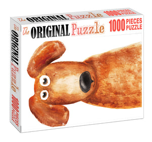 Furry Dog is Wooden 1000 Piece Jigsaw Puzzle Toy For Adults and Kids