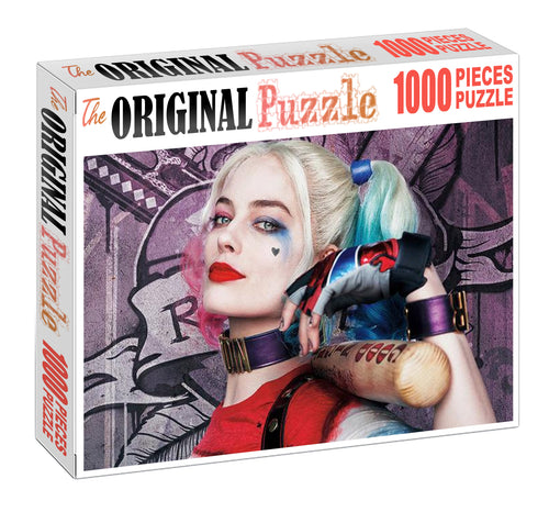 Harley Quinn Wooden 1000 Piece Jigsaw Puzzle Toy For Adults and Kids