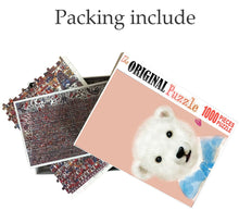 Cute White Bear is Wooden 1000 Piece Jigsaw Puzzle Toy For Adults and Kids