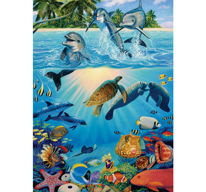 Life of the Sea Wooden 1000 Piece Jigsaw Puzzle Toy For Adults and Kids