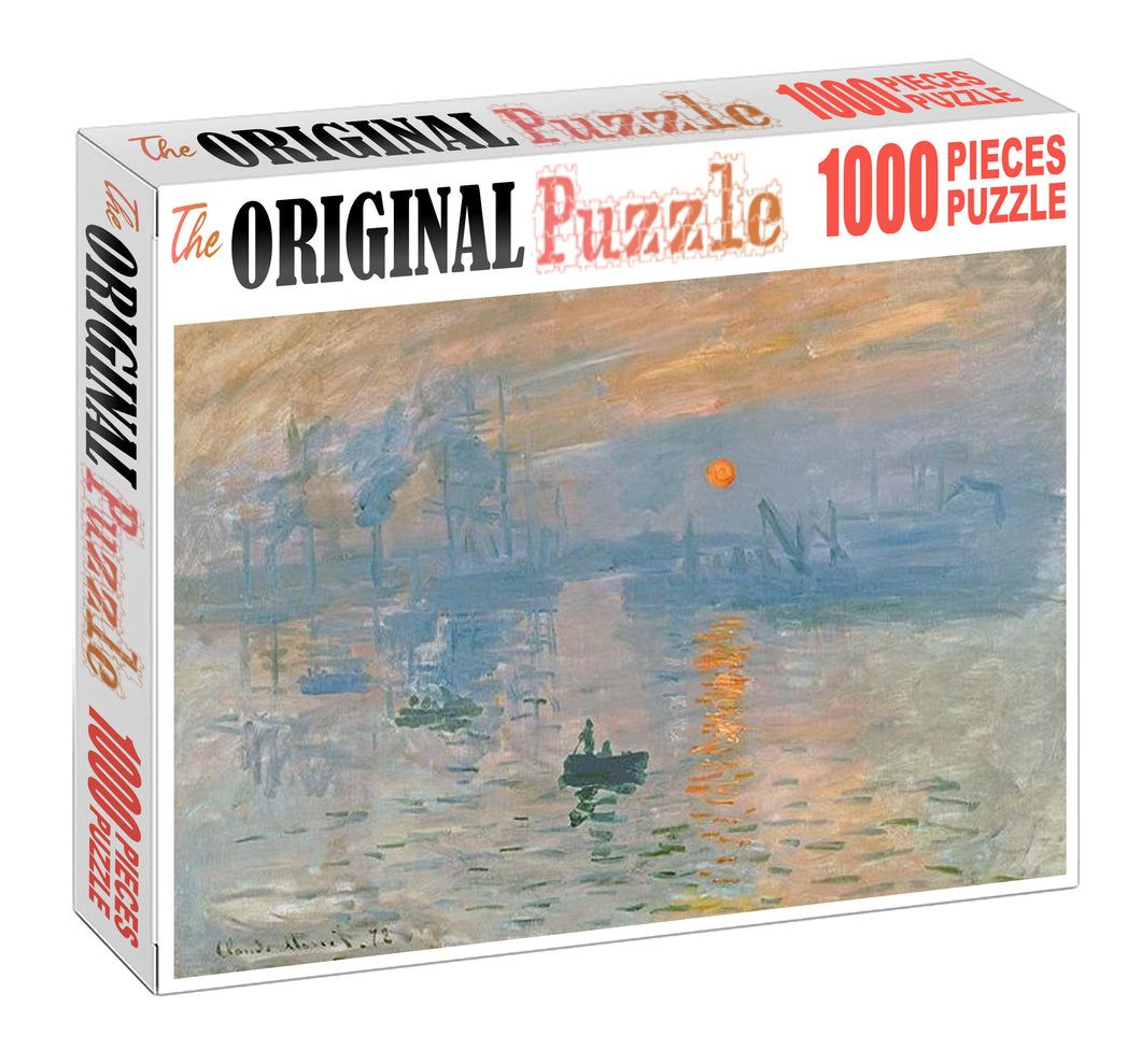 River Factory Painting Wooden 1000 Piece Jigsaw Puzzle Toy For Adults and Kids