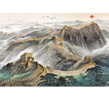 Great Wall of China Painting Wooden 1000 Piece Jigsaw Puzzle Toy For Adults and Kids