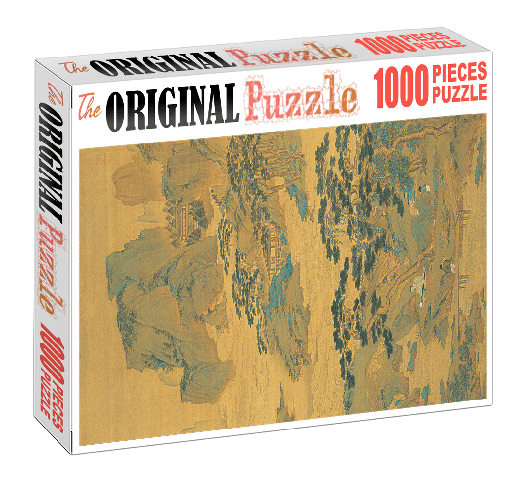 Ancient Mountain Wooden 1000 Piece Jigsaw Puzzle Toy For Adults and Kids