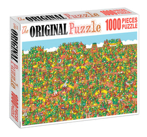 Tomato World is Wooden 1000 Piece Jigsaw Puzzle Toy For Adults and Kids