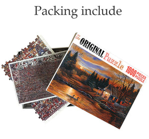 Sunset Painting is Wooden 1000 Piece Jigsaw Puzzle Toy For Adults and Kids