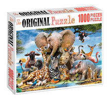 Zoo Animal Potrait is Wooden 1000 Piece Jigsaw Puzzle Toy For Adults and Kids