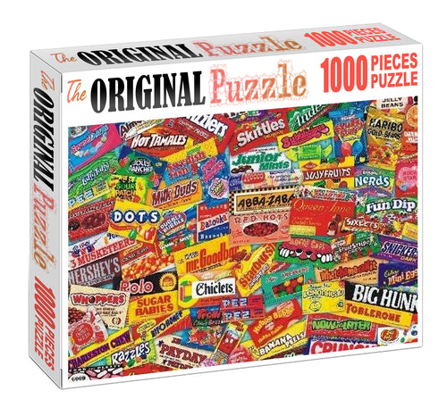 Chunk Snacks Wooden 1000 Piece Jigsaw Puzzle Toy For Adults and Kids