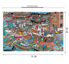 Cruise Party is Wooden 1000 Piece Jigsaw Puzzle Toy For Adults and Kids