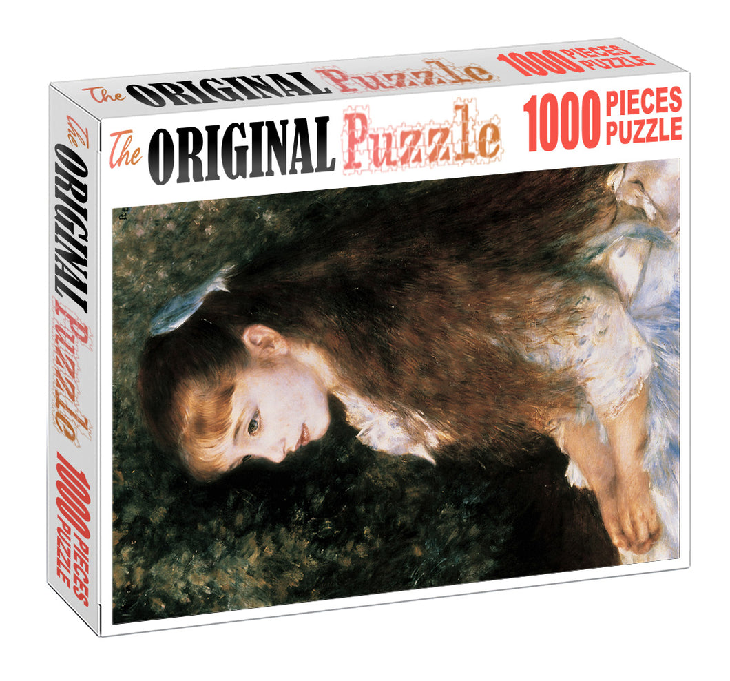 Beauty with Long Hair is Wooden 1000 Piece Jigsaw Puzzle Toy For Adults and Kids