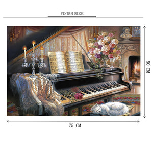 Uncovered Piano is Wooden 1000 Piece Jigsaw Puzzle Toy For Adults and Kids