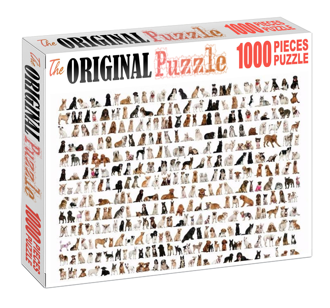 Dogs Variations Wooden 1000 Piece Jigsaw Puzzle Toy For Adults and Kids