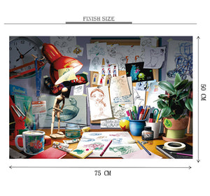 Studio of an Artist is Wooden 1000 Piece Jigsaw Puzzle Toy For Adults and Kids