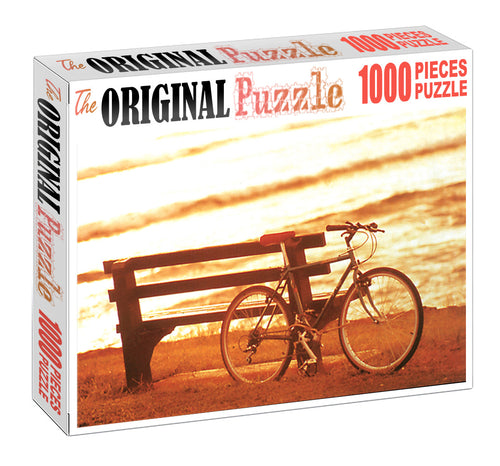 Desk and Cycle is Wooden 1000 Piece Jigsaw Puzzle Toy For Adults and Kids