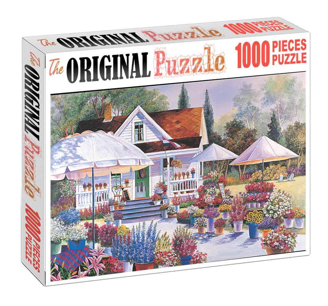 Evergarden House is Wooden 1000 Piece Jigsaw Puzzle Toy For Adults and Kids